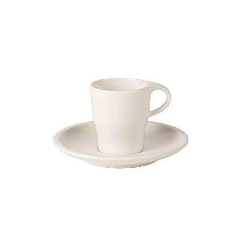 Villeroy & Boch Coffee Passion Espresso-Set, 2-teilig, Premium Porzellan, Weiß