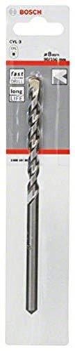 Bosch 2608597898 CYL-3 Concrete Drill Bit, 8mm x 90mm x 150mm, Silver