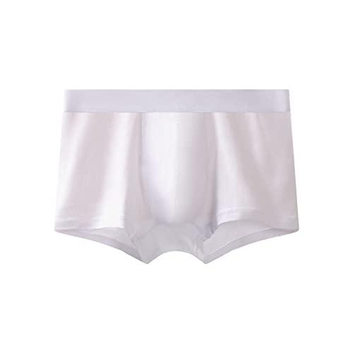 Eauptffy Herren Boxershorts Dünn Stretch Slip Retroshorts Einfarbig Unterwäsche Männer Höschen Unterhosen Men Underpants Baumwolle Atmungsaktiv Underwear Panties Unterhose