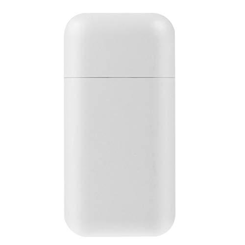 WINOMO Zigarettenetui mit Feuerzeug im Freien Wiederaufladbare Elektrische Zigarette Aufbewahrungsbox Tragbare USB-Feuerzeug für Reisen Männer Vater Geschenke (Weiß)