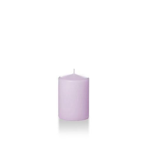 Yummi 3' x 4' Lavender Round Pillar Candles - 3 per Pack