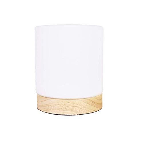 JJZXD Diseños Simples Sombra Redonda de la lámpara de Cristal lámpara de Mesa, Conveniente for la cabecera, la Sala Blanca de la lámpara
