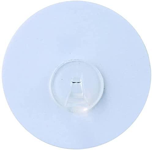 Breath Väggkrokar, fastsättning utan borrning, plast PET, 8,5 x 2 x 8,5 cm, perfekt för juldekorationer i badrum, kök, fönster karmar, dörrar eller husvagnar/husbilar (vit)