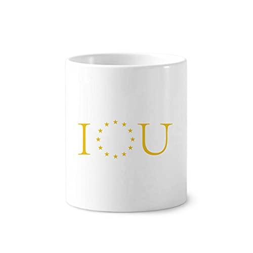 Taza con soporte para bolígrafo de cepillo de dientes, diseño de la Unión Europea