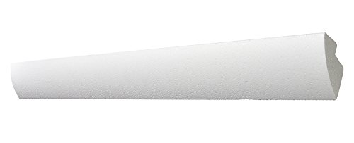 DECOSA G35 KAROLINE, 10 Leisten à 2 m Länge - Dekorative Lichtleiste in Weiß für indirekte Beleuchtung von Wand und Decke - Die Zierleiste ist kombinierbar mit LED Band oder Lichtschlauch - 45x42mm