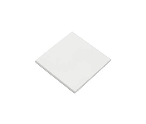GARDINIA Magnetgriff, 1 Paar, Für Flächenvorhänge als Griffschutz und zur Dekoration, 5 x 5 cm, Aluminium