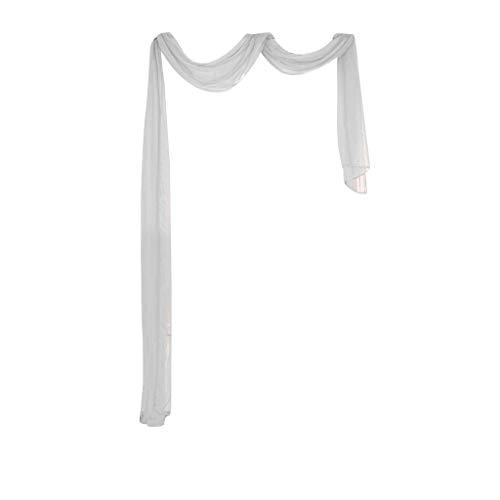 Xmiral Türvorhang Tüll Einfarbig Transparent Dekoration Gardine Hängende Verzierung Für Kinderzimmer Wohnzimmer Schlafzimmer(A)