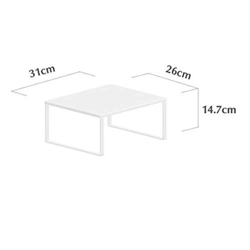 Computer Aluminum Monitor Stand Riser,kitchen Table Finishing Bracket,for Computer Laptop Imac Tv Lcd Display Printer Kitchen White -b aycpg (Color : White B)