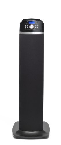 Lenco iPT-2 High Power Lautsprecher mit Dockingstation für Apple iPod/iPhone (PLL/UKW-Radio, Kartenleser, AV-Kabel) schwarz