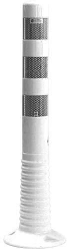UvV®-Reflex Absperrpfosten, Poller 75 cm hoch, flexibel weiss reflektierend selbstaufrichtend (Weiß)