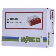 Borne pour boîtes de dérivation Wago - 4 conducteurs - Vendu par 100