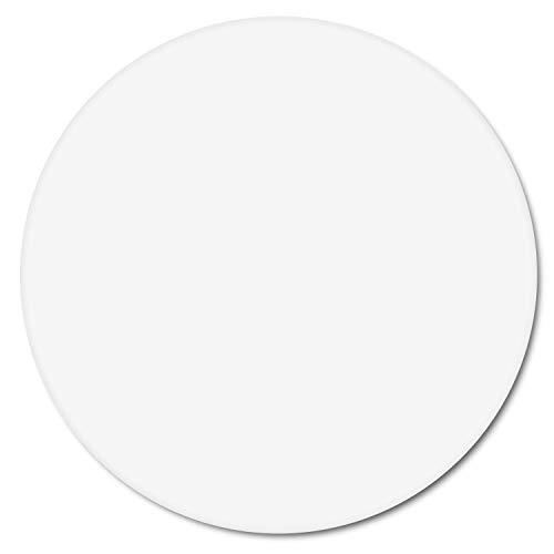 Tapis de souris blanc I Ø 22 cm rond I mousepad taille standard, antidérapant I simple moderne I intemporel I dv_279