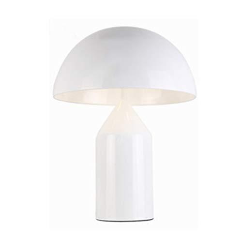WANHAO Moderne Pilz Schreibtischlampe, Nordic Simple kreative Metall Tischleuchte Schlafzimmer Badezimmer Hotel Wohnzimmer Desktop Light mit 5w G9 Glühbirne 110-240v,Weiß