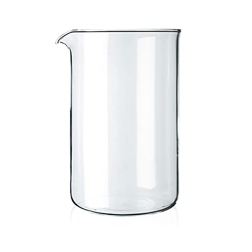 Bodum 1512-10 12-Tassen-Kaffeebecher-Ersatzbecher, Glas - transparent, 1,5 L