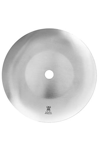 Kaya Plato para cenizas de acero inoxidable para shisha (20 mm, diámetro de 20,5 cm)