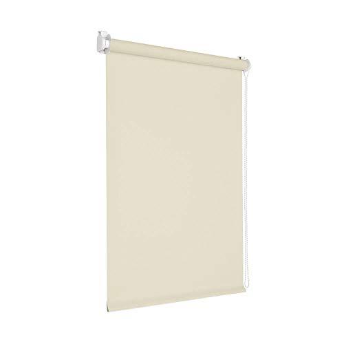 Victoria M. Tenebra Verdunkelungsrollo Rollo ohne Bohren für Fenster und Türen, 100 x 160 cm, cremeweiß