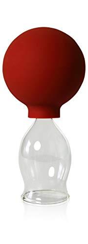 Schröpfglas mit Saugball 30mm zum professionellen, medizinischen, feuerlosen Schröpfen mundgeblasen handgeformt, Schröpfglas, Schröpfgläser, Lauschaer Glas das Original