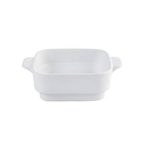 4.6 inch Kleine Keramiek Ramekins Vierkante Bakplaten met Handvat voor Oven Souffle Gerechten Bakken Bowl Individuele Bakeware (350ml)11.8 OZ voor Creme Brulee, Custard, Dipping, Rijst, Soep 4.6 inch(350ml) Kleur: wit