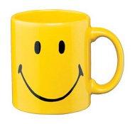 Waechtersbach Smiley Face Mug, Yellow, Set of 4