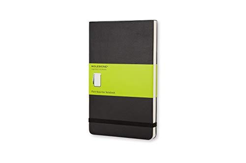Moleskine - Notebook Reporter Pagina a BIanco - Taccuino Copertina Rigida - Colore Nero - Dimensione Large 13 x 21 cm - 192 Pagine