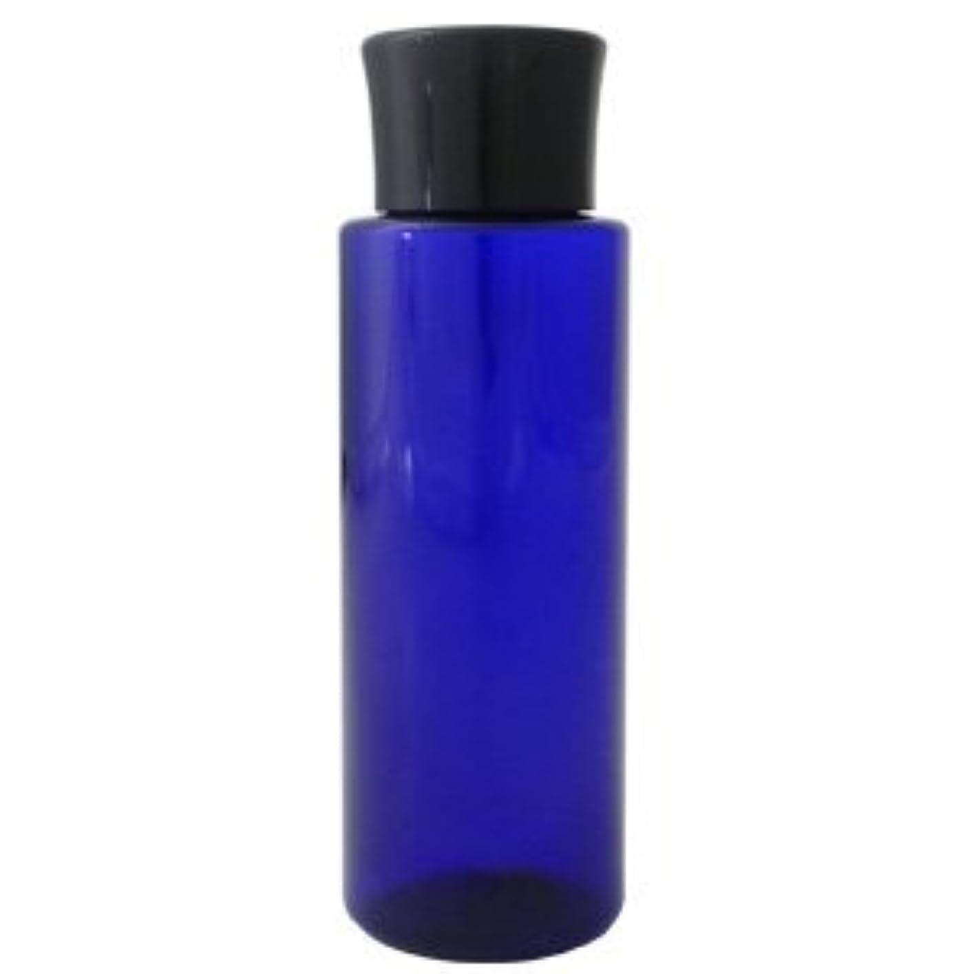 悲鳴くぼみ気づかないPETボトル コバルトブルー (青) 100ml *化粧水用中栓