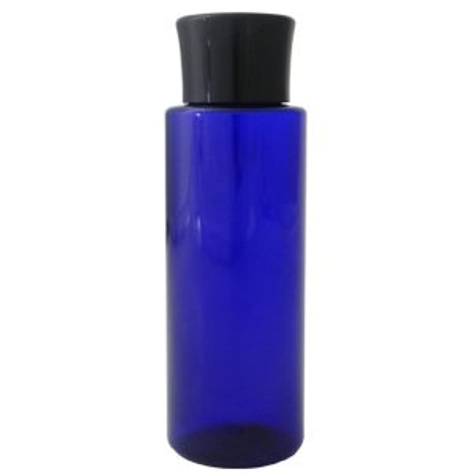 音声塩説明的PETボトル コバルトブルー 青 100ml 化粧水用中栓