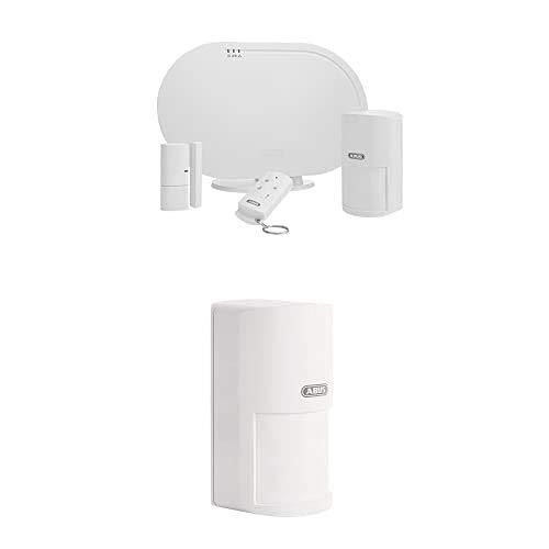 ABUS Funk-Alarmanlage Smartvest Basis-Set Einbruchmeldeanlage - Testsieger - Fernzugriff + Funk-Bewegungsmelder tierimmun Smartvest + Öffnungsmelder Smartvest für Funk-Alarmanlage