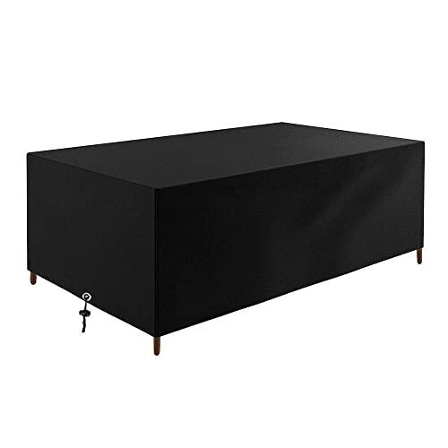 GartenmöBel - Lona protectora impermeable para muebles de jardín, tejido Oxford 420D, impermeable, resistente al viento, resistente a los rayos UV, 255 x 255 x 85 cm