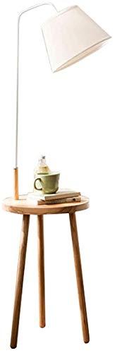 Oak Stativ Stehlampe Leselampe und ein kleiner Couchtisch, Stehlampe Nordeuropa,Wood color