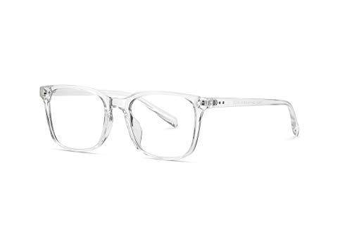 SKILEC Gafas Anti Luz Azul Gafas Ordenador Gafas Lectura Hombre Mujer Antifatiga Filtro Protección Azul UV Gafas Presbicia Hombre para PC, Gaming, Videojuegos Lentes Transparentes (Transparent