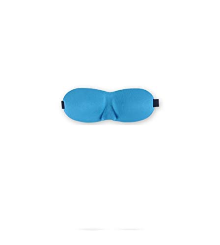 Zhtt Slaapmasker, van natuurzijde, met verstelbare band 100% licht blokkerend, 3D contourierd, voor dames en heren, reizen, in ploegenwerk en duiken, Rj360-015 cyaan.