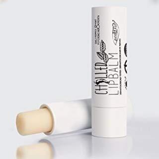PUROBIO - Balsamo Labbra Rimpolpante con Peperoncino e Menta - Burrocacao Vegano e Nickel Tested a Base di Olio di Ricino