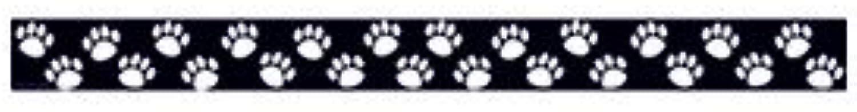Schwarz mit weißen Pfotenabdrücken Klassenzimmer Bordüre Bordüre Bordüre [Set von 2] B01L9HE4FY | Der neueste Stil  735650