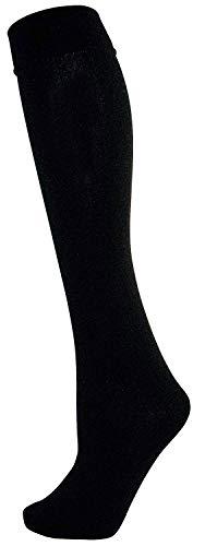 Ultimate Heat Neuf pour Dames Filles 2 Paires Noir Chaleur Isolant Thermique Doublure Polaire 200 Denier Chausettes UK 4-7 Ue 37-41 - Noir, UK 4-7