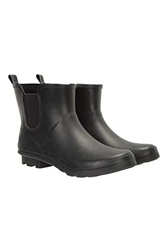 Mountain Warehouse Kurze Gummistiefel für Herren - wasserdichte Regenstiefel mit Baumwollfutter - Ideal für nasses Wetter, zum Wandern, Trekken, Spazieren und im Freien Schwarz 45