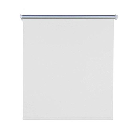 Aufun Verdunkelungsrollo Thermorollo Seitenzugrollo Seitenzug Klemmrollo ohne Bohren Klemmfix (120 x 160 cm, Weiß)