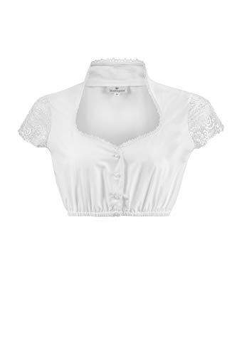 Stockerpoint Damen Dirndlbluse B-8058 Kleid für besondere Anlässe, Weiss, 42