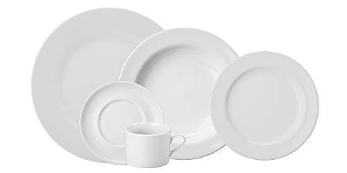 Serviço Jantar E Chá 20 Peças Porcelana Schmidt Brasília Branca Pacote De 020 No Voltagev