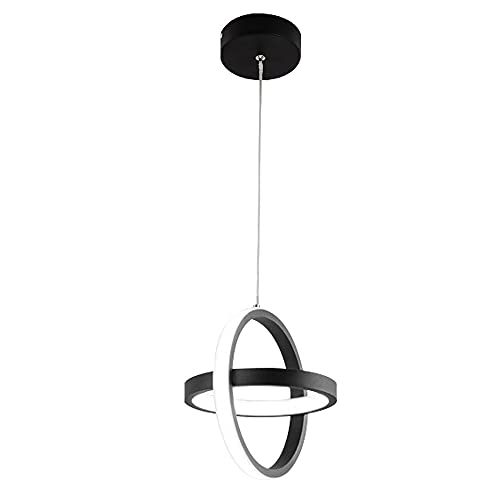Lámparas De Araña, Iluminación De Techo, Adecuado Para Un Accesorio De Iluminación Moderno En La Sala De Estar, Comedor, Dormitorio, Pasillo Simple. DIRIGIÓ Candelabro (Color : Black(White light))
