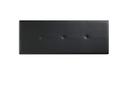 marcKonfort Tête de lit Judith 160X55 Noir, capitonnée Cuir synthétique
