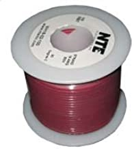 White Type 22 Gauge 100 Length NTE Electronics WHS22-09-100 Hook Up Wire 300V Solid