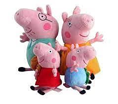 EPICCAKE Pig Plushies Peppa - Pig Plush Peppa - Pig Stuffed Animal Peppa - Pig Peppa George Peppa Daddy Mommy Peppa Plush Toy Collection - 12 Inch Daddy, Mummy, 8 inch George Peppa from EPICCAKE