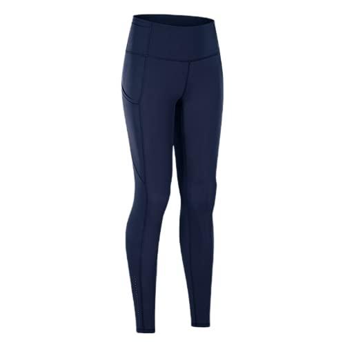 QTJY Pantalones de Yoga de Cintura Alta, Entrenamiento de compresión en Cuclillas para Mujeres, Mallas Deportivas para Correr, de Secado rápido y Estiramiento Alto CS