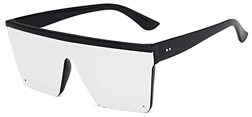 ShZyywrl Gafas De Sol De Moda Unisex Gafas De Sol Cuadradas De Gran Tamaño De Moda Gafas De Sol con Lentes De Espejo Plano Rojo Púrpura Gafas De Sol Hombres Mu
