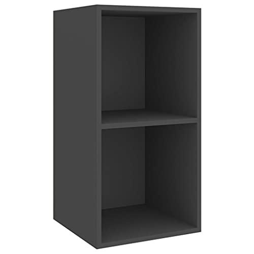 vidaXL Mueble de Pared para TV Soporte Armario Aparador Estante Salón Sala de Estar Mobiliario Decoración Aglomerado Gris 37x37x72 cm