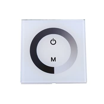 HelloCreate Panel táctil de un solo color regulador de pared interruptor controlador de luz LED tira de luz DC 12V-24V blanco