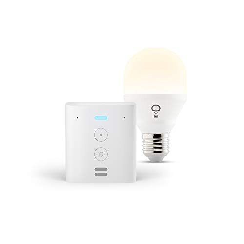 Echo Flex + LIFX White Smarte LED-Lampe, mit WLAN, funktioniert mit Alexa