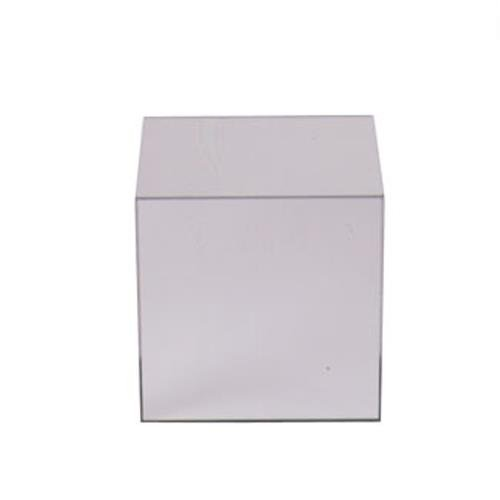 """Cal-Mil MC710 Mirror Cube Riser, 10"""" Height, 10"""" Width, 10"""" Length, Acrylic"""