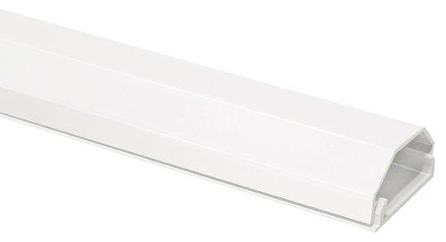 My Wall HZ4-1,1WL - Canalina per cavi in alluminio per supporti da parete, 2 pezzi, colore: Bianco