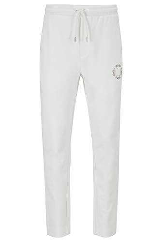 BOSS Herren Halboa Circle Regular-Fit Jogginghose mit mehrlagigem Logo in Metallic-Optik